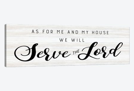 Serve the Lord 3-Piece Canvas #CAD100} by CAD Designs Canvas Print