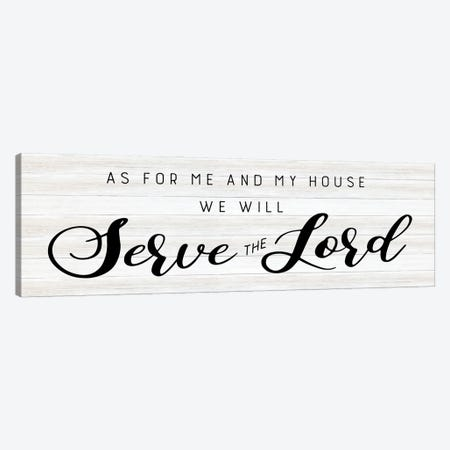 Serve the Lord Canvas Print #CAD100} by CAD Designs Canvas Print