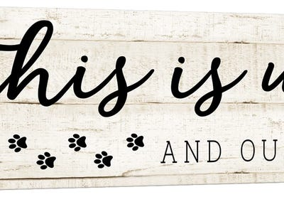 This is Us and the Dog Canvas Art Print