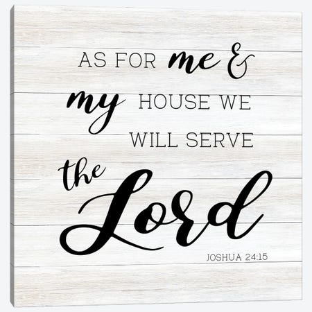 We Shall Serve Canvas Print #CAD104} by CAD Designs Canvas Art