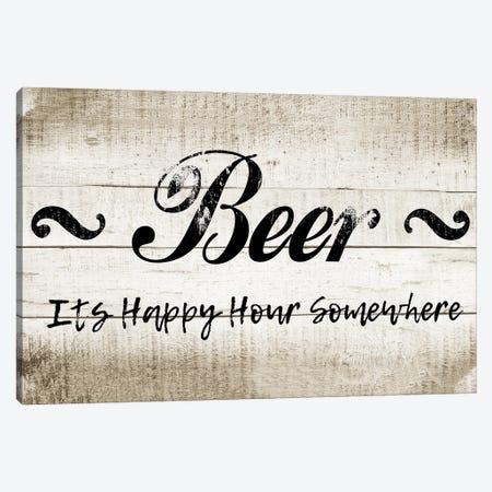Beer Happy Hour Canvas Print #CAD105} by CAD Designs Canvas Artwork