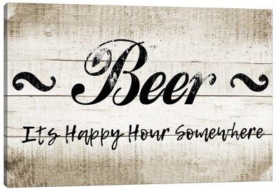 Beer Happy Hour Canvas Art Print