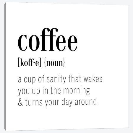 Coffee Definition Canvas Print #CAD106} by CAD Designs Canvas Art