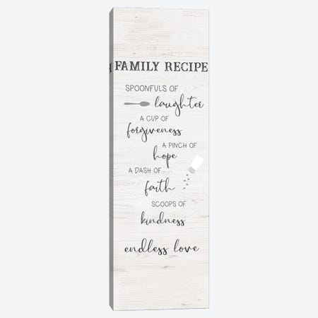 Family Kitchen Recipe Canvas Print #CAD108} by CAD Designs Art Print