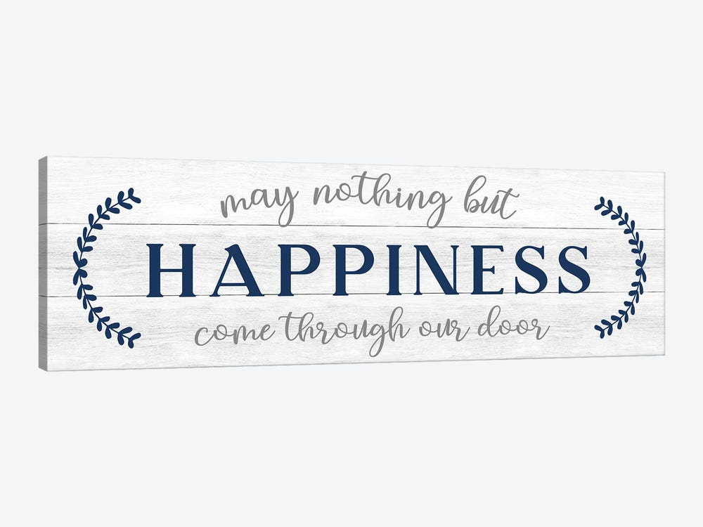 Nothing But Happiness by CAD Designs 1-piece Canvas Print