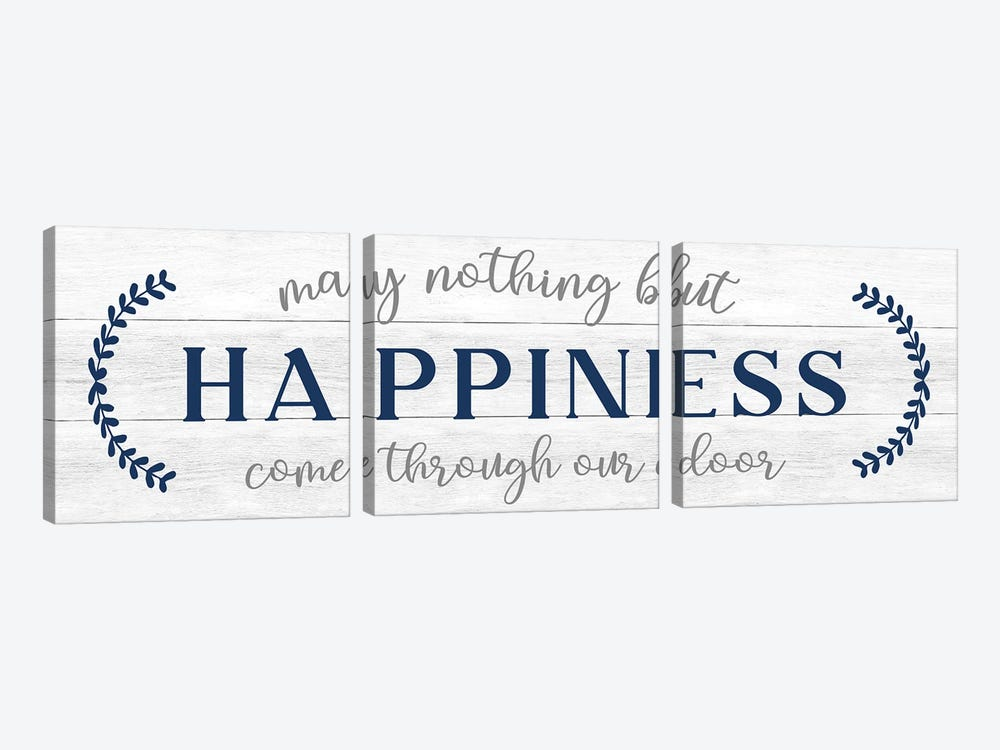 Nothing But Happiness by CAD Designs 3-piece Canvas Art Print