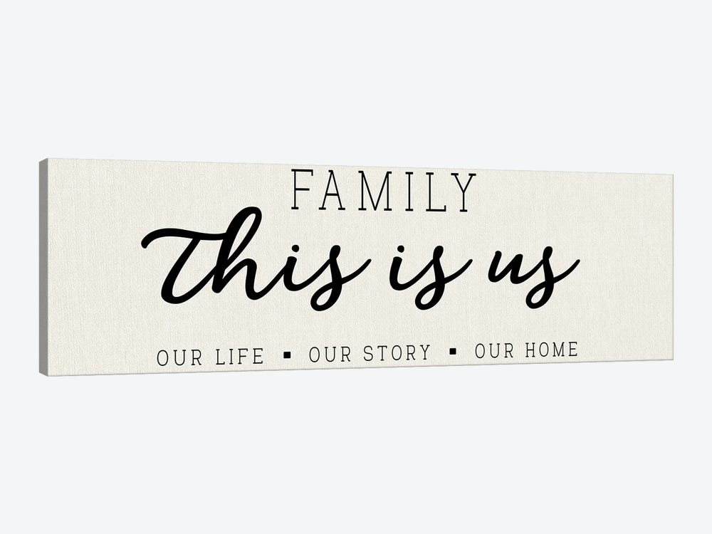 Our Life Our Story Our Home by CAD Designs 1-piece Canvas Art