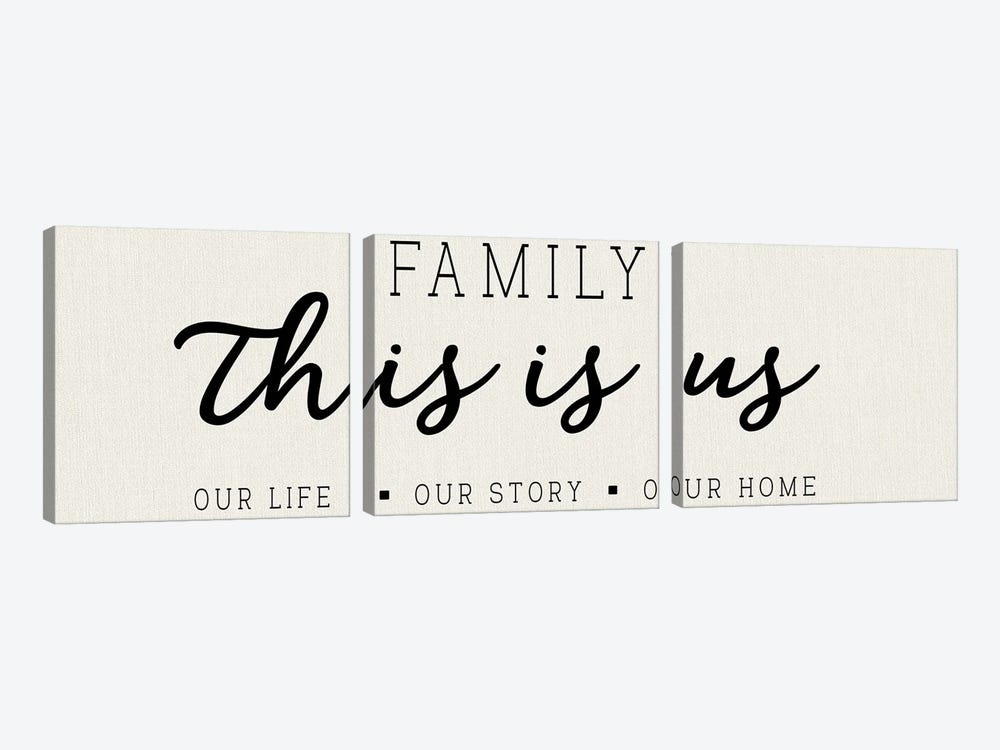 Our Life Our Story Our Home by CAD Designs 3-piece Canvas Art