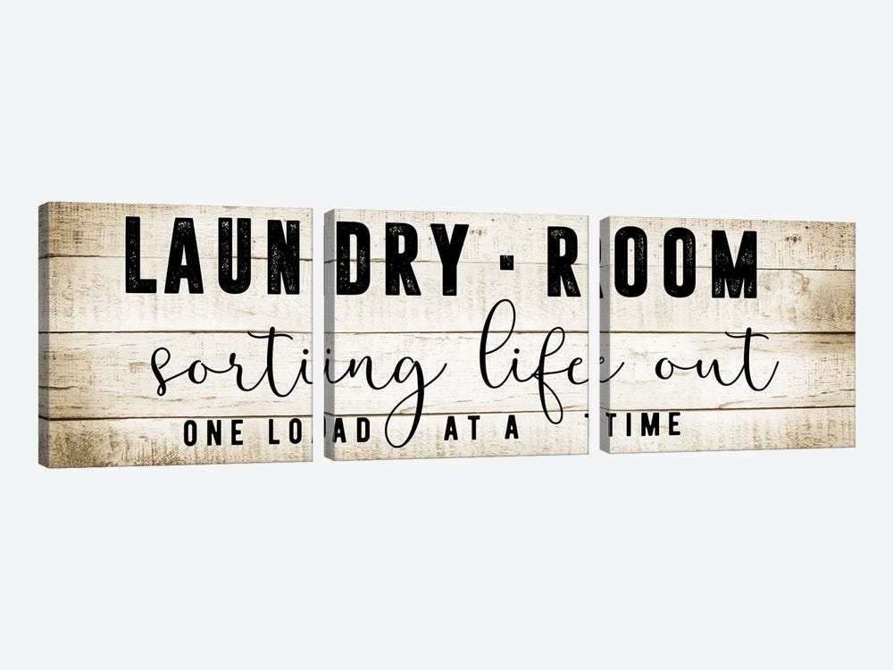 Laundry Room by CAD Designs 3-piece Canvas Art Print