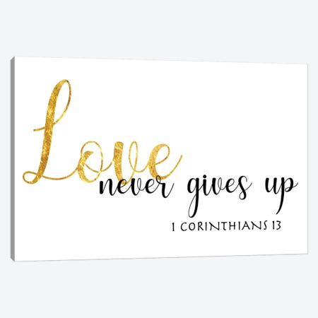 1 Corinthians 13 Canvas Print #CAD15} by CAD Designs Canvas Artwork