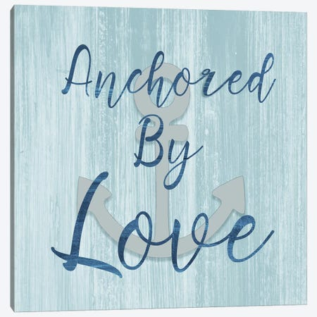 Anchored by Love Canvas Print #CAD16} by CAD Designs Canvas Wall Art