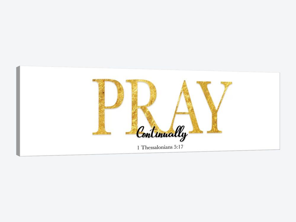 Pray Continually by CAD Designs 1-piece Canvas Art Print