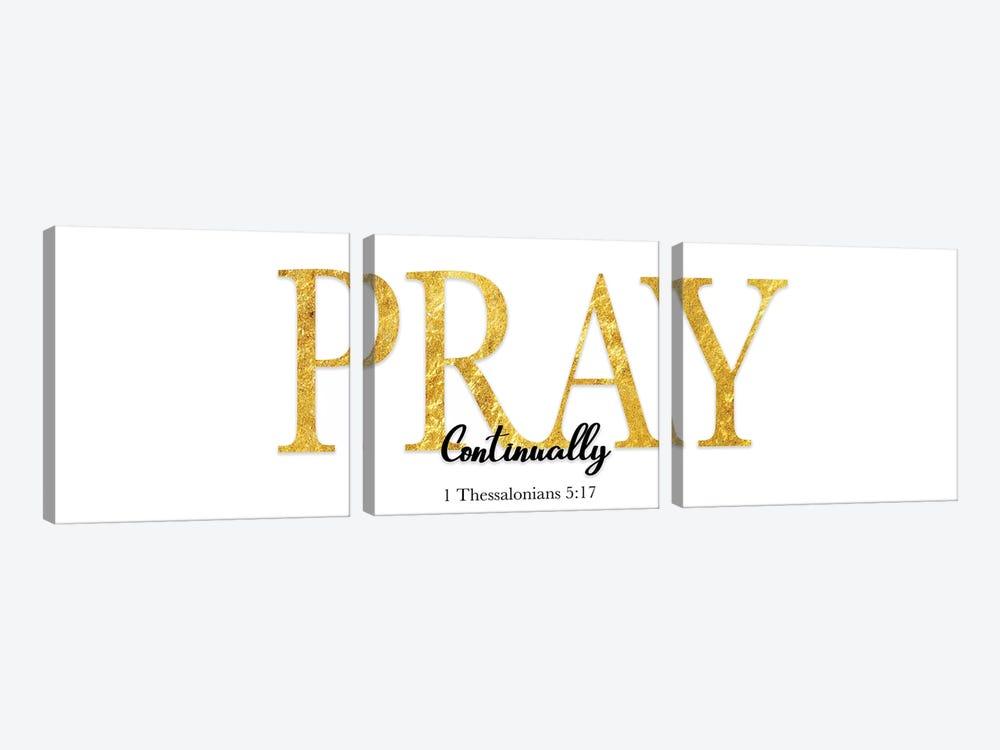 Pray Continually by CAD Designs 3-piece Canvas Art Print