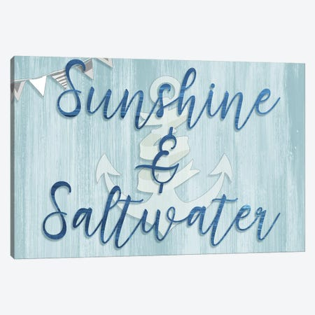 Sunshine & Saltwater Canvas Print #CAD27} by CAD Designs Canvas Print