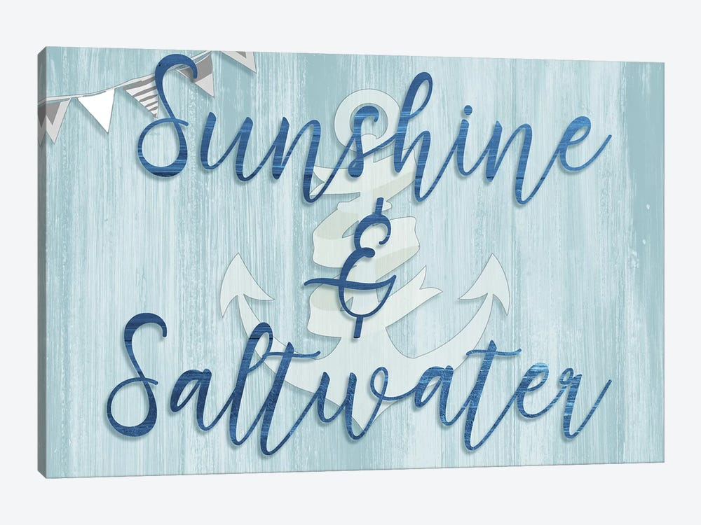Sunshine & Saltwater by CAD Designs 1-piece Canvas Art Print