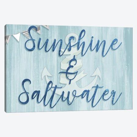 Sunshine & Saltwater 3-Piece Canvas #CAD27} by CAD Designs Canvas Print