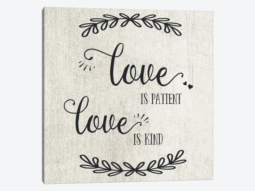 Love is Patient by CAD Designs 1-piece Canvas Artwork