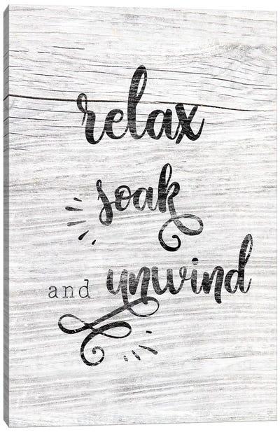 Relax Soak Unwind Canvas Art Print