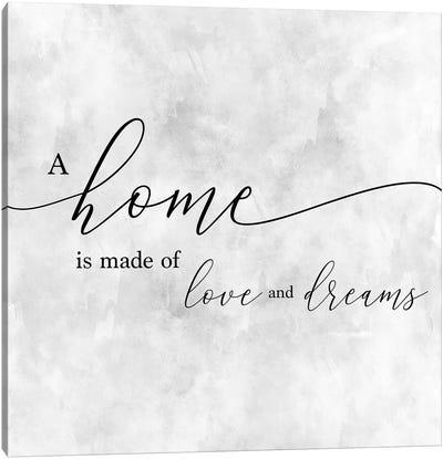 A Home Canvas Art Print