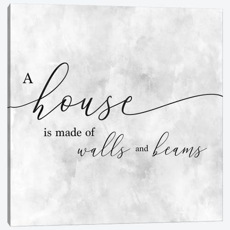 A House Canvas Print #CAD42} by CAD Designs Canvas Wall Art