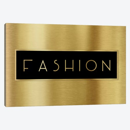 Gold Fashion Canvas Print #CAD45} by CAD Designs Canvas Art Print