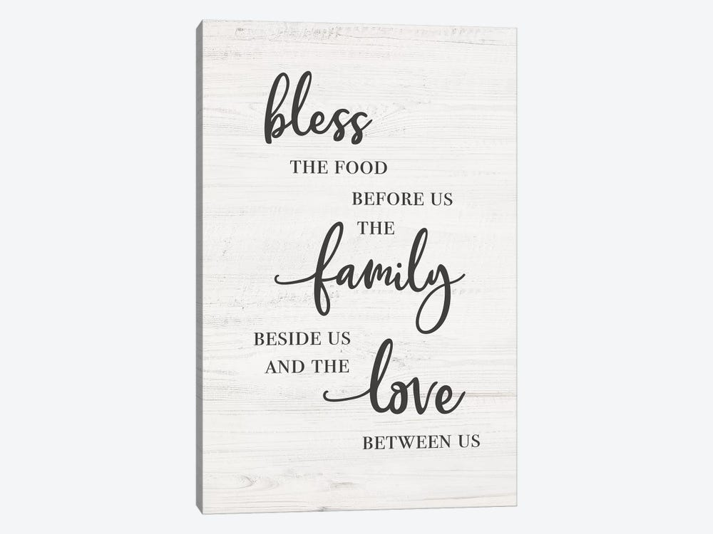 Bless Family Love by CAD Designs 1-piece Canvas Artwork