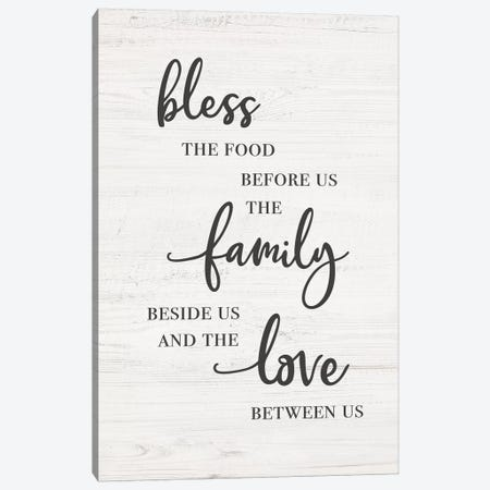 Bless Family Love Canvas Print #CAD53} by CAD Designs Canvas Print