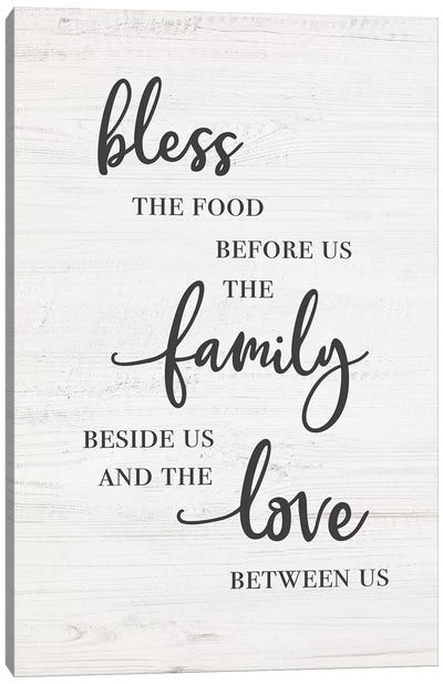 Bless Family Love Canvas Art Print