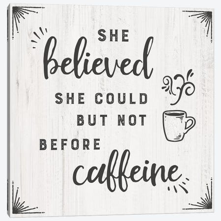 Caffiene Canvas Print #CAD56} by CAD Designs Canvas Artwork