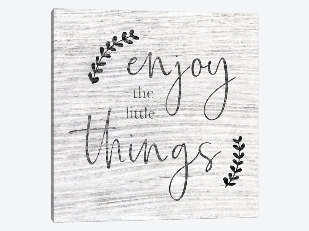 Enjoy The Little Things by CAD Designs 1-piece Art Print