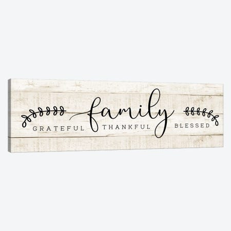 Family Canvas Print #CAD59} by CAD Designs Canvas Art Print