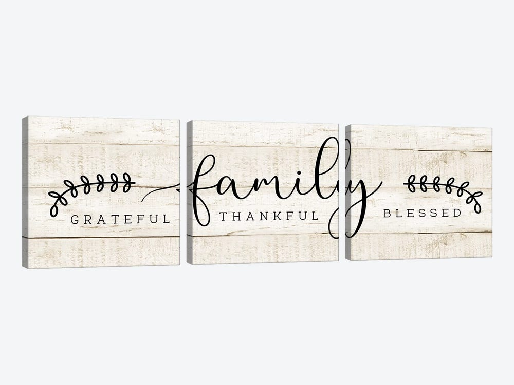 Family by CAD Designs 3-piece Canvas Art