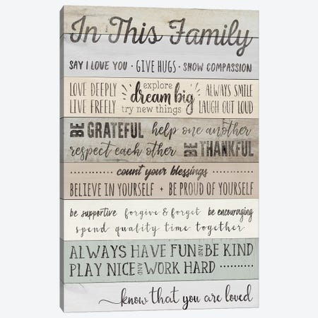 In This Family Canvas Print #CAD5} by CAD Designs Canvas Art Print