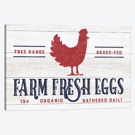 Farm Fresh Eggs Canvas Print #CAD60} by CAD Designs Canvas Wall Art