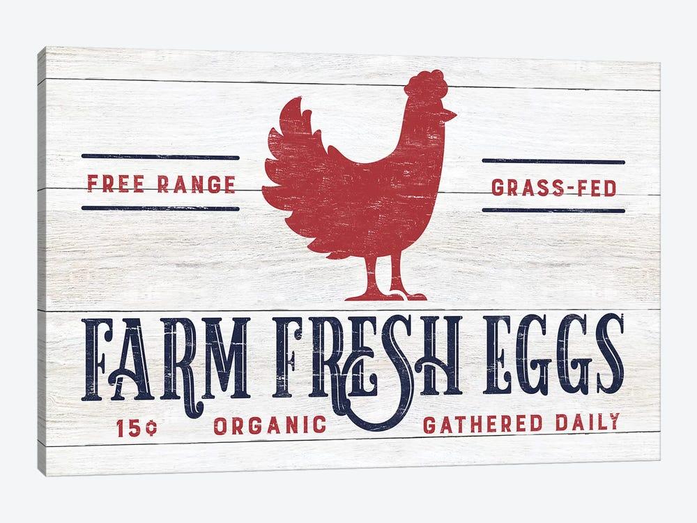 Farm Fresh Eggs by CAD Designs 1-piece Canvas Art