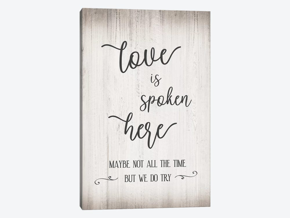 Love Is Spoken by CAD Designs 1-piece Art Print