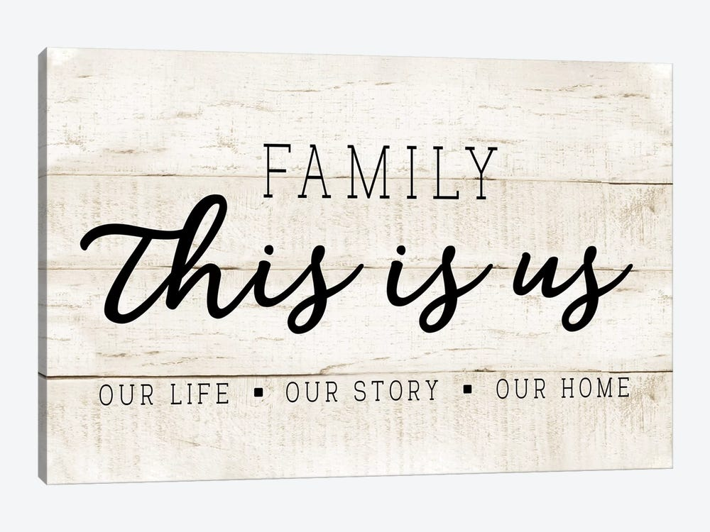 This Is Us by CAD Designs 1-piece Canvas Print