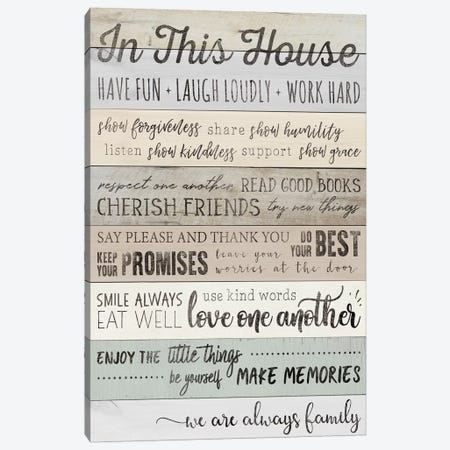 In This House Canvas Print #CAD6} by CAD Designs Canvas Print