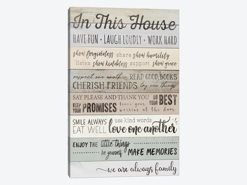 In This House by CAD Designs 1-piece Canvas Art