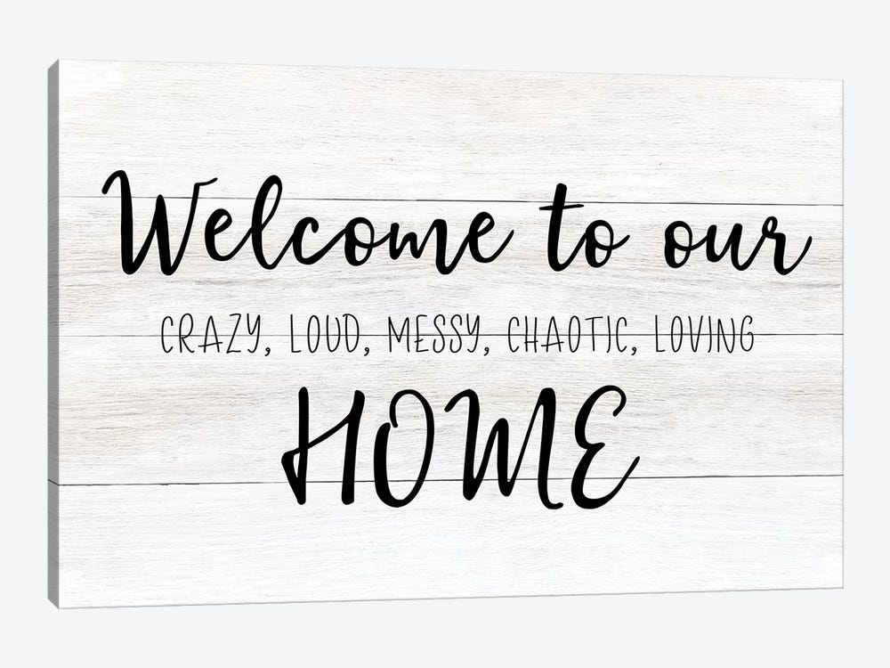 Welcome To Our Home by CAD Designs 1-piece Canvas Artwork