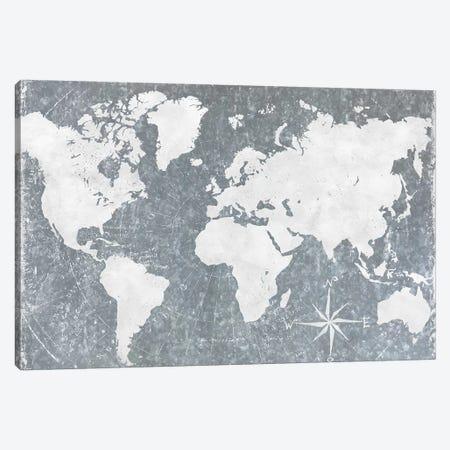 Galvanized Map Canvas Print #CAD72} by CAD Designs Canvas Art Print