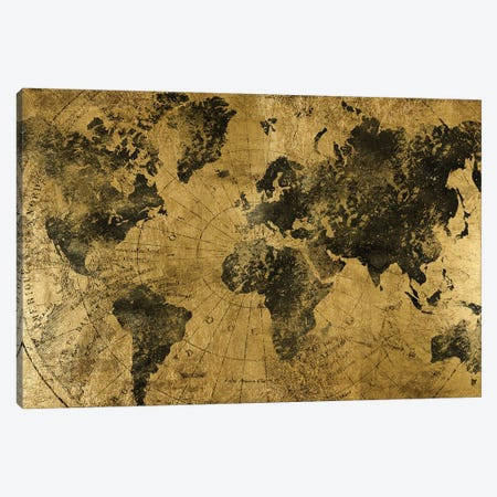 Golden Atlas Canvas Print #CAD74} by CAD Designs Canvas Artwork