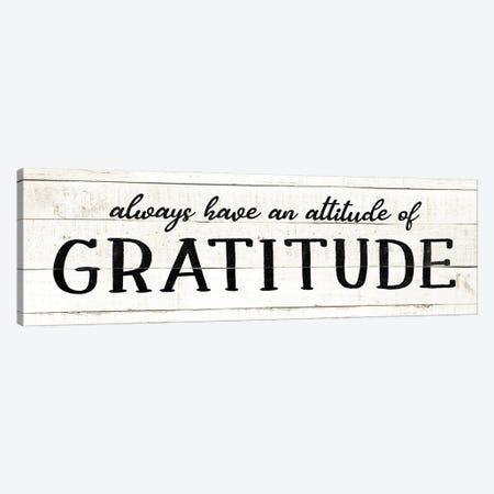 Attitude Gratitude Canvas Print #CAD75} by CAD Designs Canvas Artwork