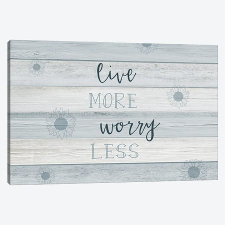 Live More Canvas Print #CAD81} by CAD Designs Canvas Wall Art