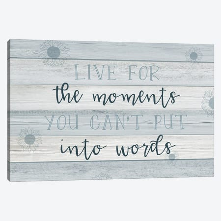 Moments into Words Canvas Print #CAD83} by CAD Designs Canvas Wall Art