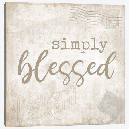 Postcard Blessed Canvas Print #CAD85} by CAD Designs Canvas Print