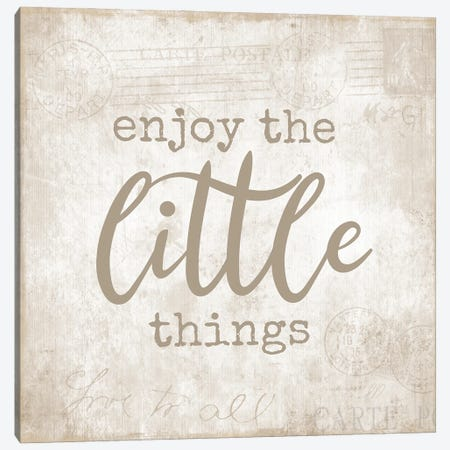 Postcard Little Things Canvas Print #CAD86} by CAD Designs Canvas Print