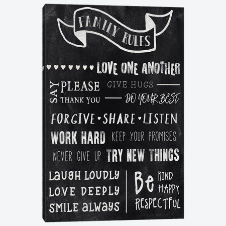 Chalkboard Rules I Canvas Print #CAD8} by CAD Designs Canvas Artwork