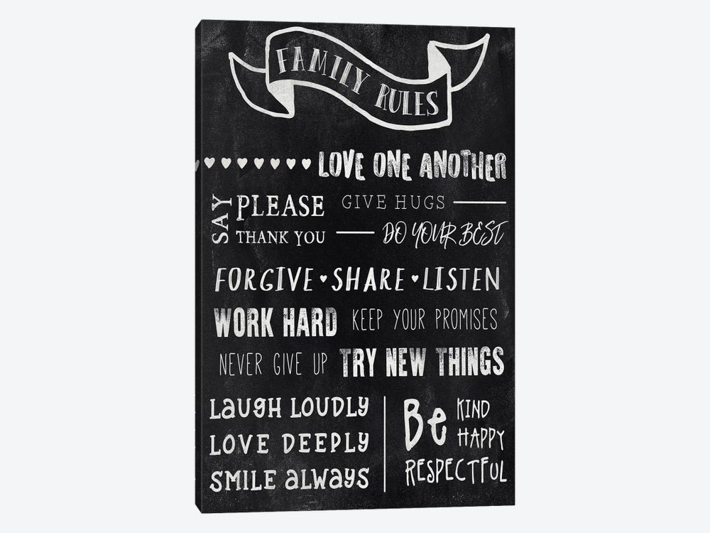 Chalkboard Rules I by CAD Designs 1-piece Canvas Wall Art