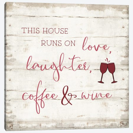 Laughter and Wine Canvas Print #CAD96} by CAD Designs Canvas Artwork